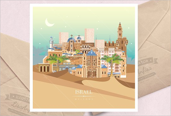 Travel Poster PSD Template