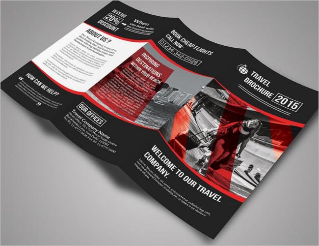 Travel Trifold Brochure Bundle
