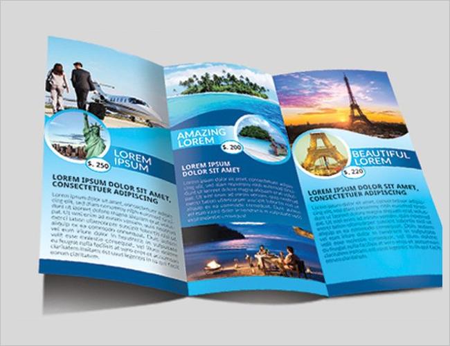 Travel photo Album Brochure