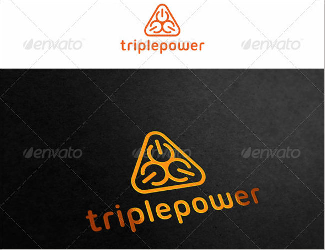 Triple Power Abstract Logo