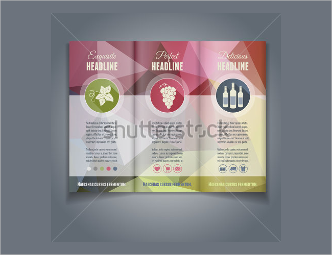 Vector Wine Brochure Layout