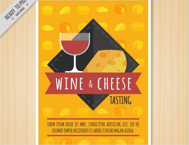 Vintage Wine Brochure Card