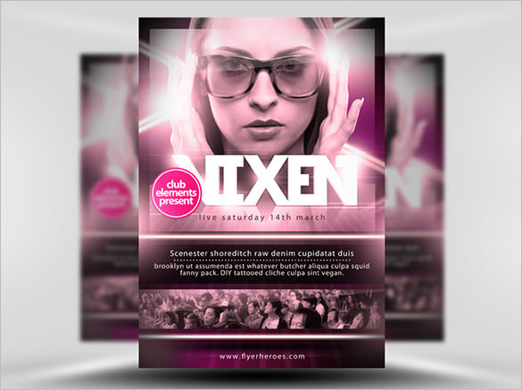 Vixen-Free-A3-Poster-Template