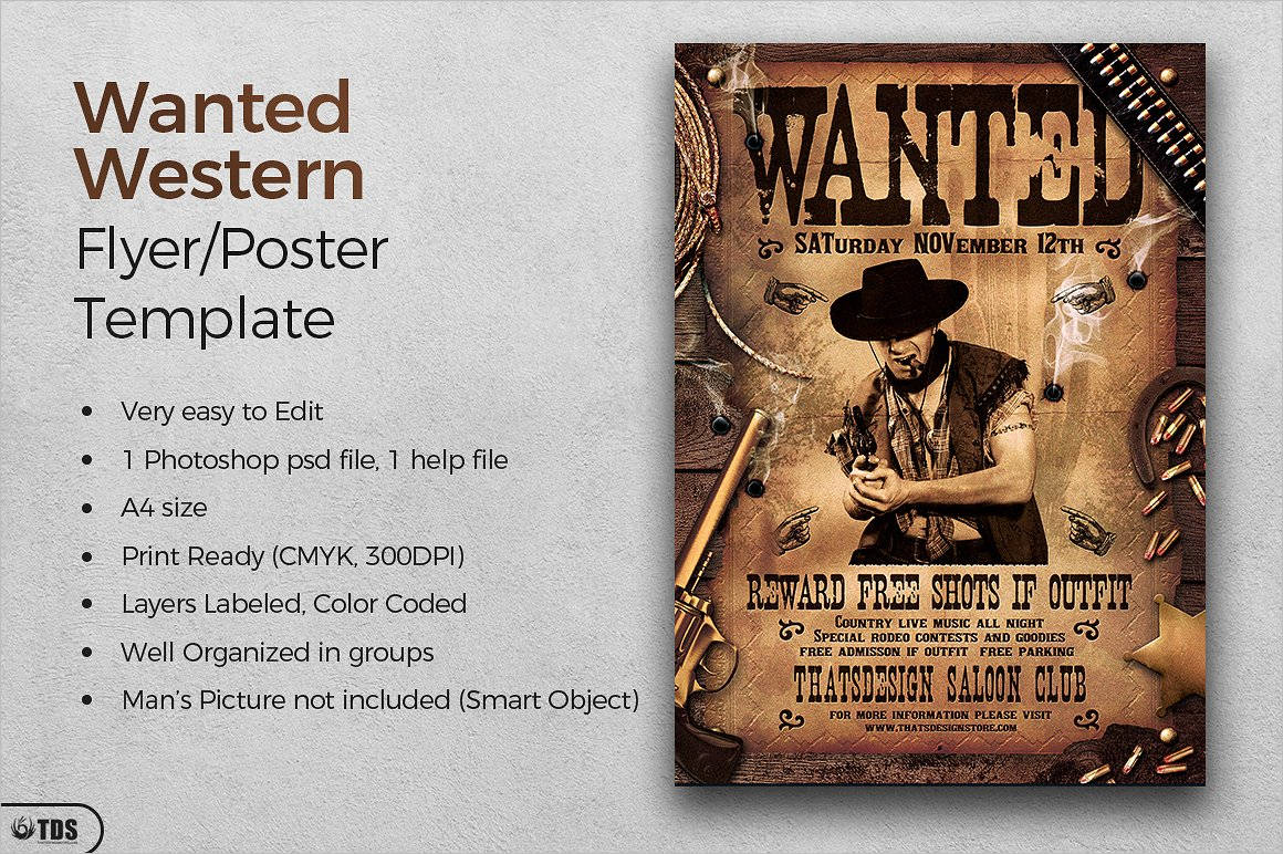 50 Printable Wanted Poster Templates Free PDF PSD Designs