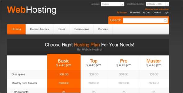 Web Hosting Magento Template