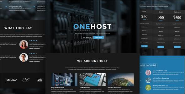 Webpage Responsive Hosting Template