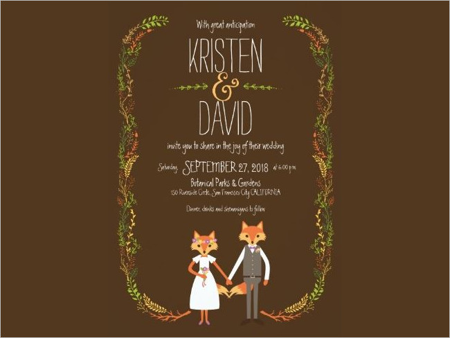 Wedding Invitation Card Example Download