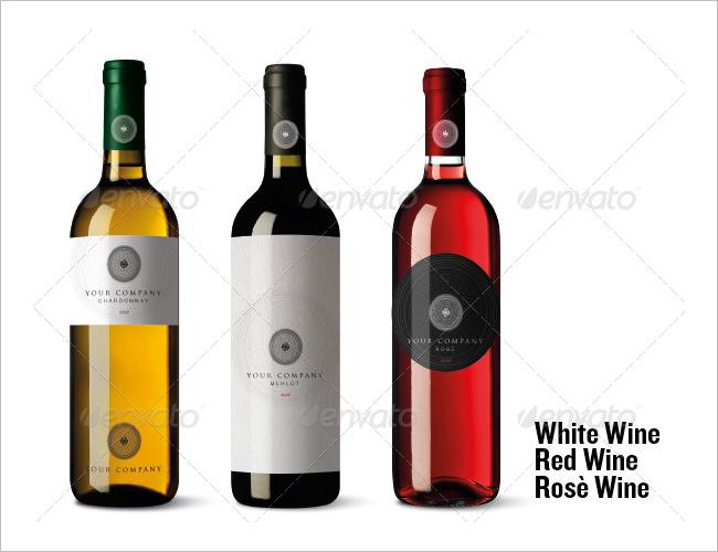 Wine Bottle Brochure Mock Up