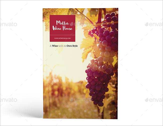 Wine Brochure Print Template