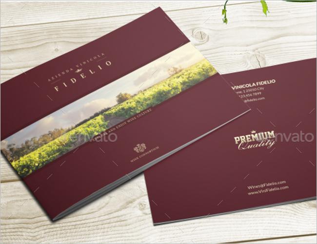 Wine Business Brochure Template