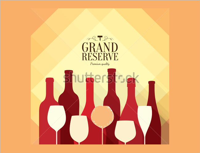 Wine List Brochure Card Template
