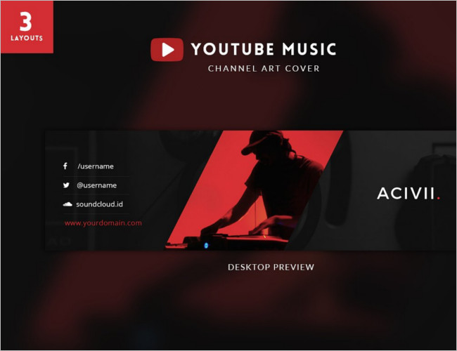 Youtube Music Channel Banner Design