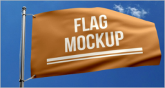 32+ Flag Mockup Templates PSD
