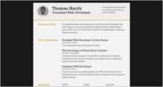 html5 responsive resume templates