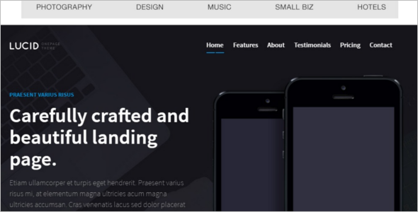 25 responsive jquery templates free website themes for Jquery landing page templates