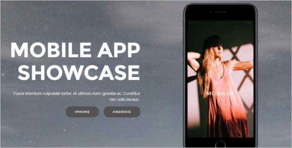 jQuery Mobile App Website Template