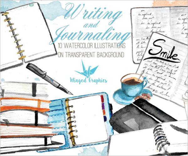 journaling Watercolour Sketch Design