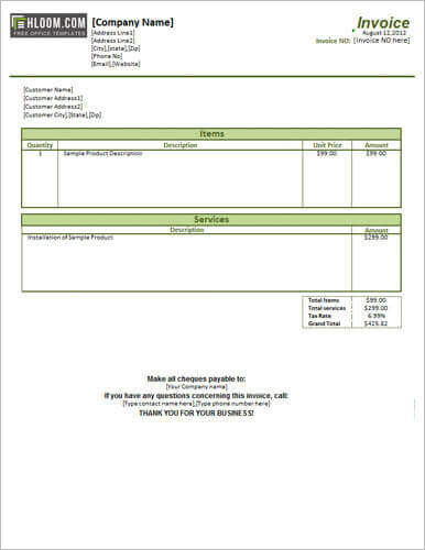 service-and-product-invoice-template