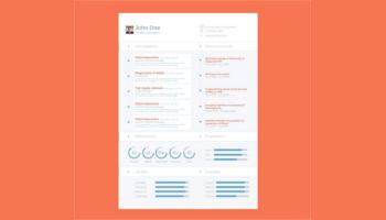 Flat Design Resume Templates