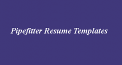 Pipefitter Resume Templates