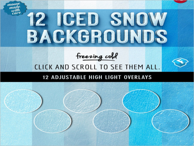 Ice Snow Fall Background Textures