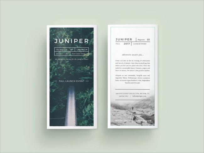 Photography Fashion Trifold Brochure