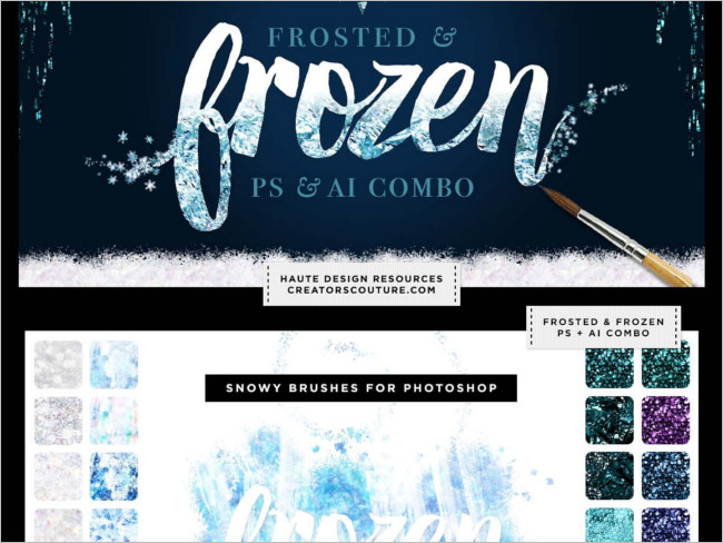 Frozen Styles Bundle Photoshop