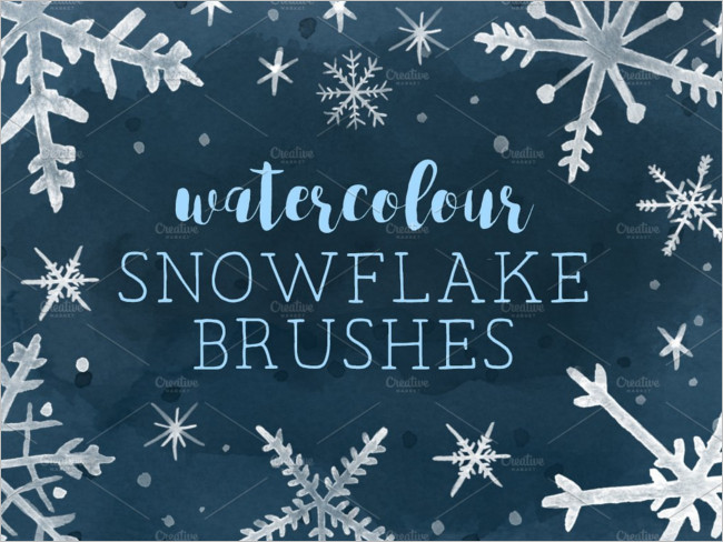 Watercolor snowfall Brushes