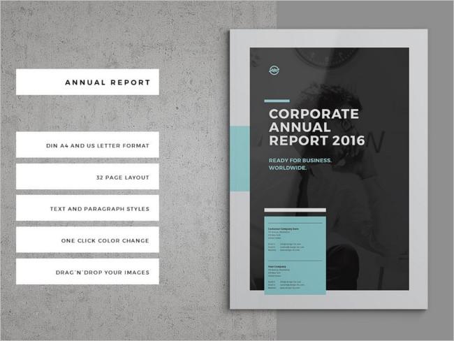 Annual Income Report Brochure