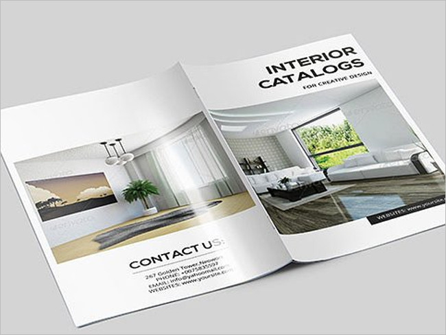 Interior Catalog Template Brochure
