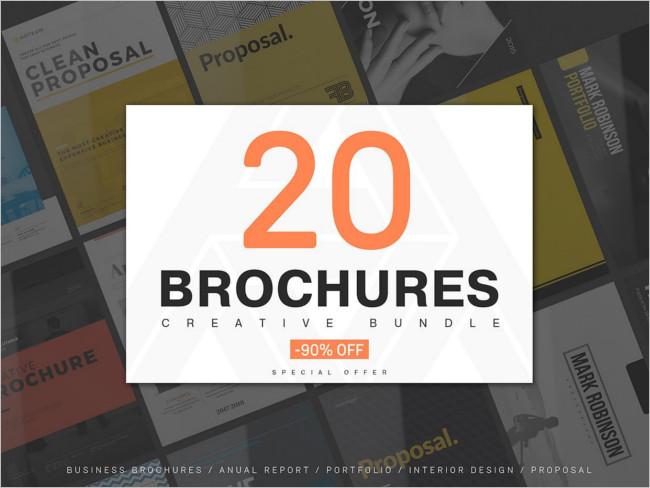 Creative Responsive Brochures Mega Bundle