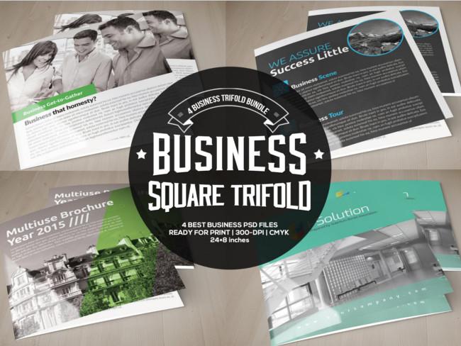 Square Trifold Bundle Brochure