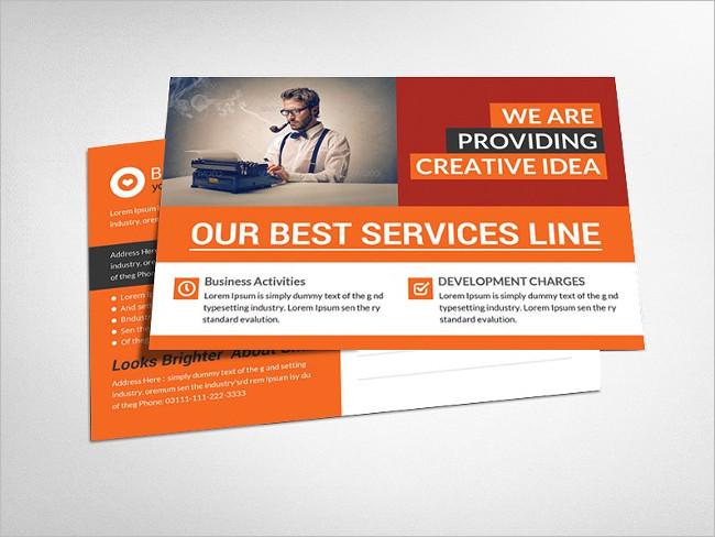 Business Postcard Template Brochure