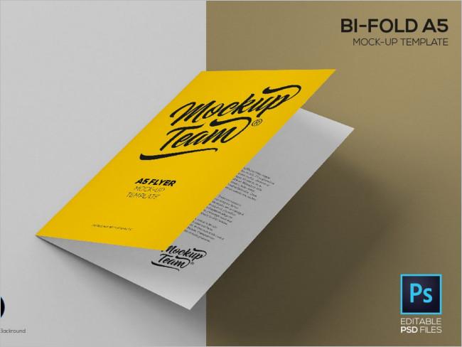 Fold Mock-Up Template Brochure