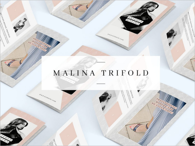 Malina Modern Brochure Pattern
