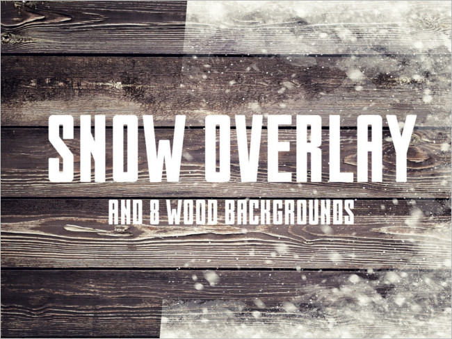 Season Snow Overlay Photo
