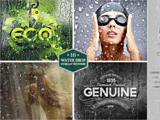 Water Drop Grunge Overlay Texture