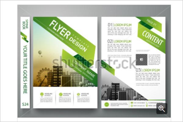 Abstract Banner Greenary Brochures