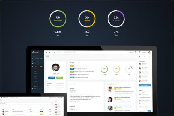 Admin Dashboard UI Kit Template