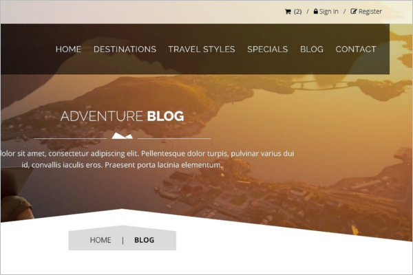 Adventure Travel Sign -Up Forms Designs