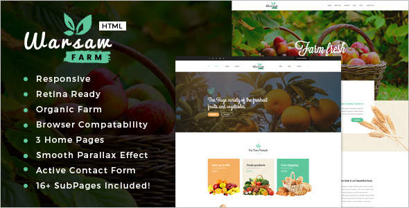 Agriculture Retail HTML Template