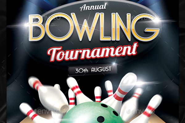 Amazing Bowling Invitation Flyer
