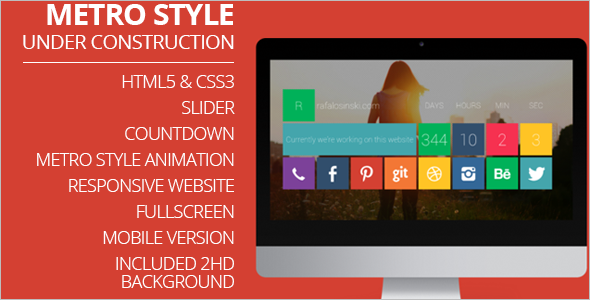 AnimatedMetro Style Mobile Template