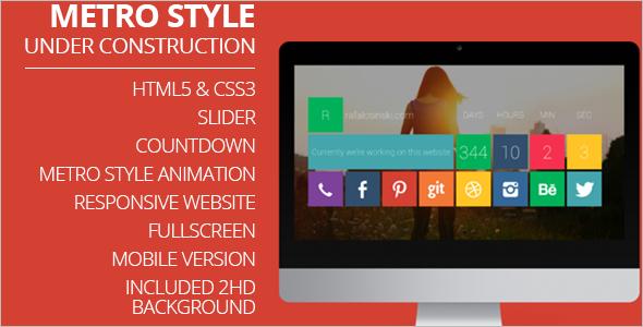 AnimatedMetro Style Mobile Template