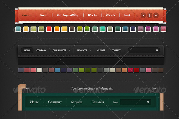 Animation Navigation Bar template
