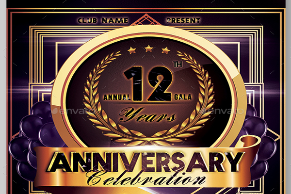 Anniversary Flyer Design Ideas
