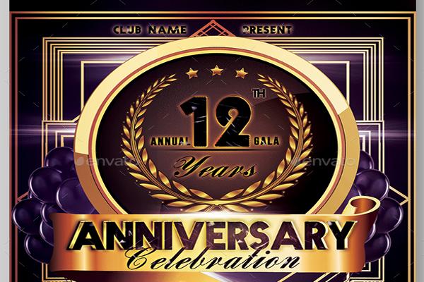 Anniversary Flyer Design Ideas