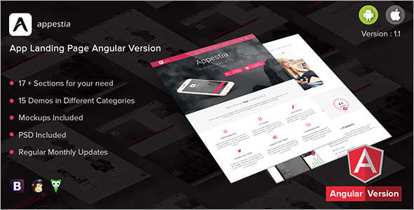 App Landing Page sighn Up Template