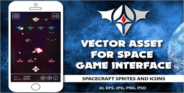 Asset for space game Design Template