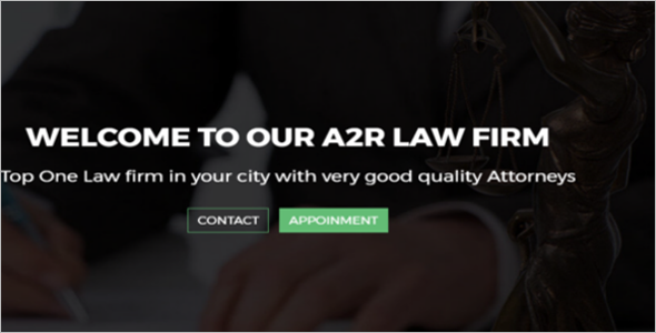 Attorney Agency Responsive Web Slider Template